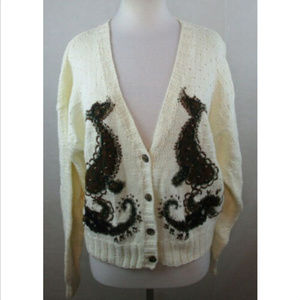 Vtg WESTBOUND Womens Cardigan Ugly Sweater, XL